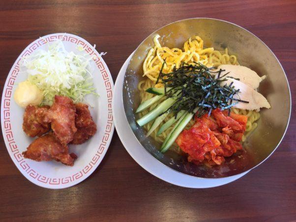 魁力屋さんの冷麺と唐揚げ – from Instagram